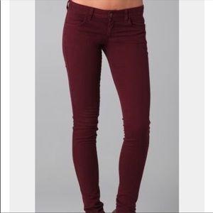 Zara Trafaluc Burgundy Skinny Jeans